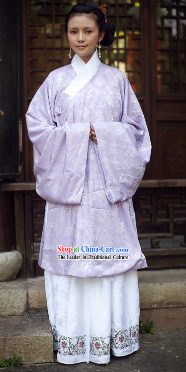 Ancient Chinese Purple Clothing for Women