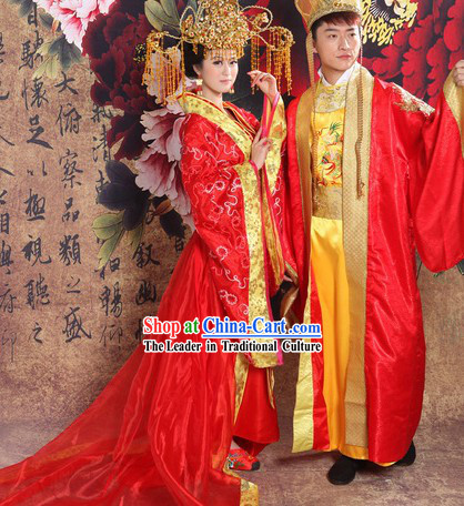 Ancient Chinese Imperial Emperor and Empress Wedding Dresses