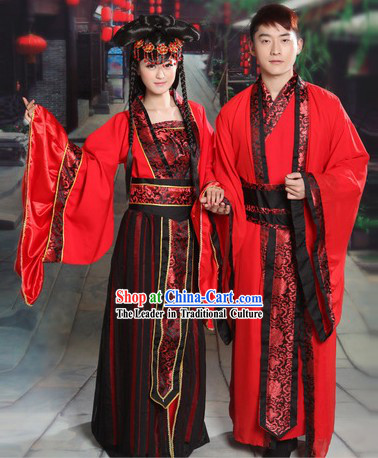Ancient Chinese Red Wedding Dresses