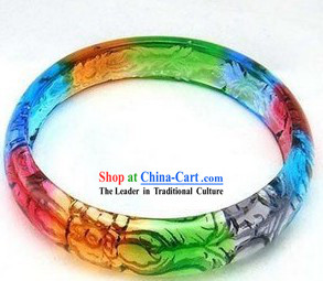 Traditional Chinese Coloured Glaze Bracelet