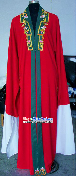 Ancient Chinese Red Long Sleeve Robe for Women