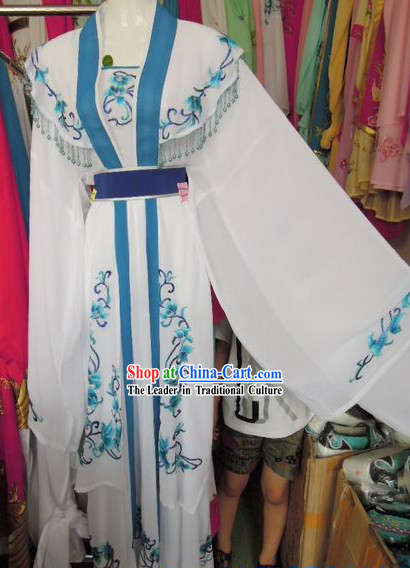 Ancient Chinese Opera White Robe for Women