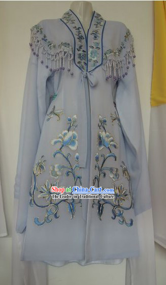 Ancient Chinese Flower Embroidery Long Sleeve Costumes