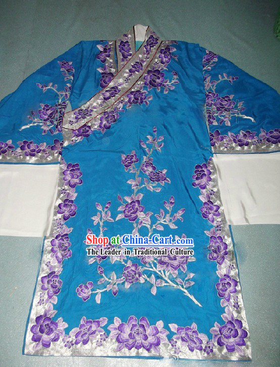 Ancient Chinese Opera Flower Embroidery Young Men Robe