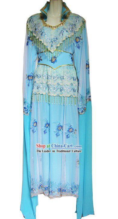 Ancient Chinese Opera Light Blue Costumes for Women