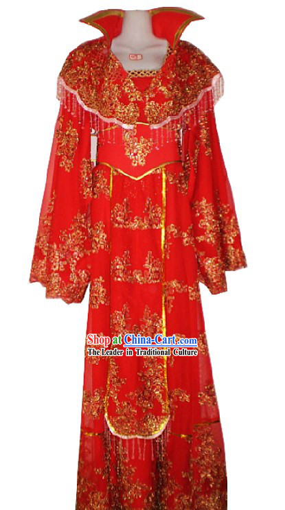 Ancient Chinese Opera Red Wedding Dress for Women