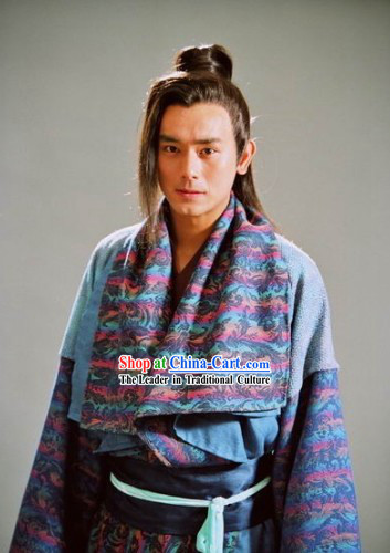Ancient Chinese Purple Guzhuang Costumes for Men