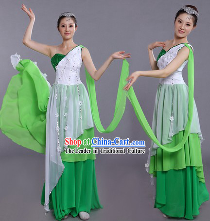 Traditional Chinese Stage Performance Dance Costumes and Headpieces