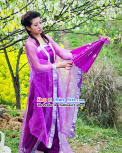 Purple Ancient Chinese Style Stage Performance Costume