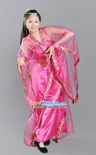 Pink Ancient Chinese Style Stage Performance Dance Costumes