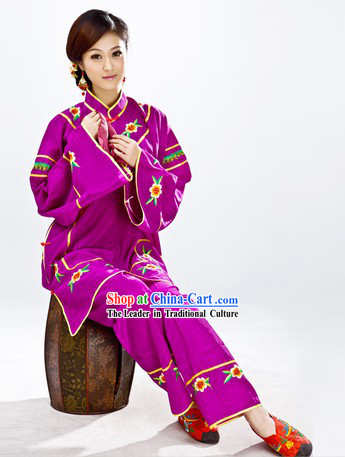 Traditional Chinese Fan Dance Costumes
