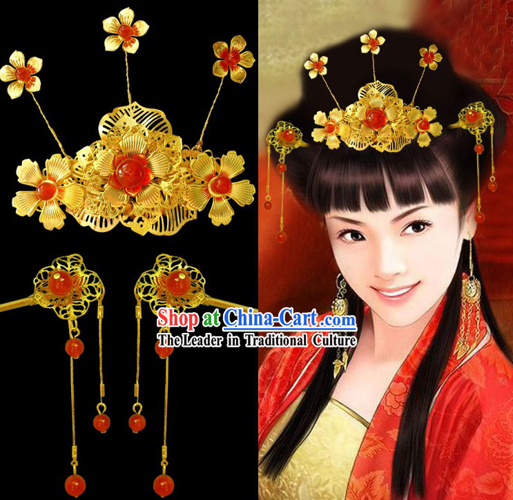 Ancient Chinese Bride Wedding Headdress for Women