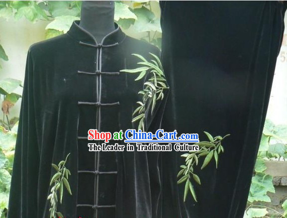 Traditional Chinese Velvet Tai Chi Competition Clothes