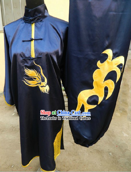 Traditional Chinese Long Fist Kung Fu Stage Performance Uniforms