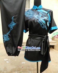 Traditional Chinese Long Fist Embroidered Phoenix Kung Fu Competition Uniforms