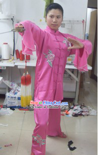 Traditional Chinese Silk Kung Fu Championship Uniform for Women