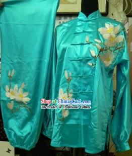 Ancient Chinese Silk Tai Chi Clothing