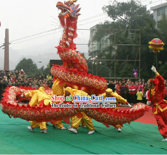 Festival Celebration and Business Opening Peking Dragon Dance Costumes Complete Set