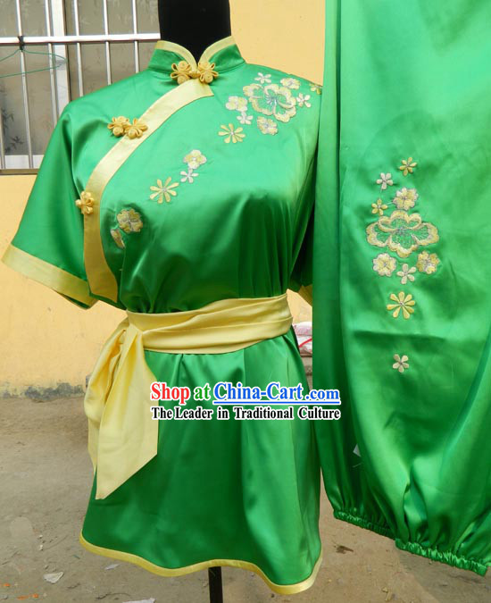 Green Chinese Kung Fu Martial Arts Clothing for Women