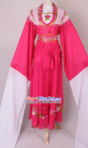 Traditional Chinese Huangmei Opera Long Sleeve Xiao Jie Lady Costumes
