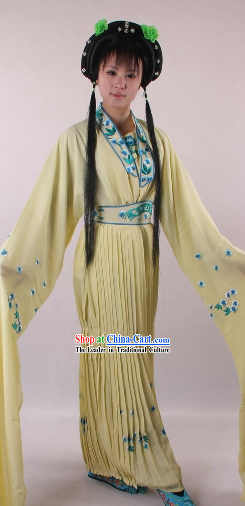 Traditional Chinese Shaosing Opera Lady Costumes and Wig