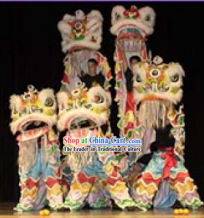 Chinese Classic Fo Shan Lion Dancing Costumes Five Set