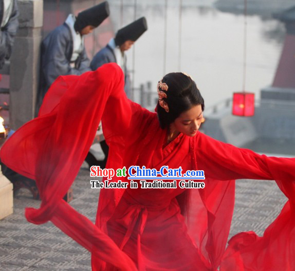 The Assassins Red Beauty Diao Chan Dancing Costume