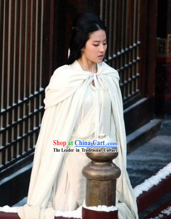 The Assassins Pure White Beauty Diao Chan Liu Yifei Cape and Clothes Set