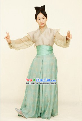 Traditional Chinese Tang Dynasty Adult Costumes Suit for Women