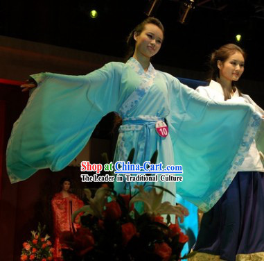 Blue Chinese Classical Han Fu Costume for Women
