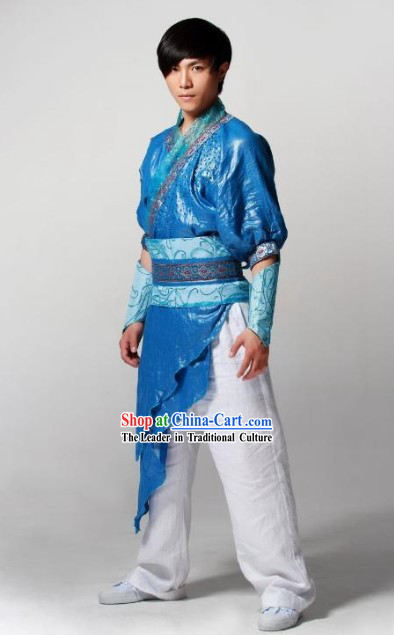 Mandarin Style Drummer or Kung Fu Dancer Stage Performance Costume Full Set for Men