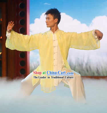Tai Chi Wushu Silk Dresses and Veil Set for Teachers