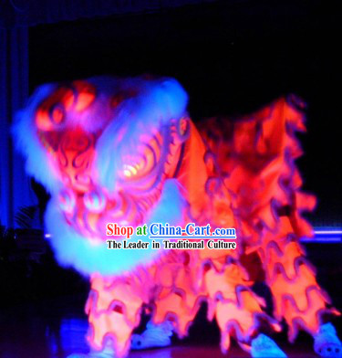 Glow In Dark Luminous New Year and Festival Celebration Lion Dance Costume Complete Set