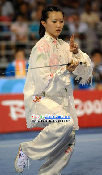Hand Painted Tai Chi Championship Silk Uniform