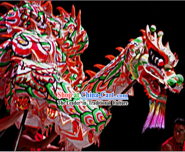 Chinese Southern Style Fluorescent Dragon Dancing Costumes