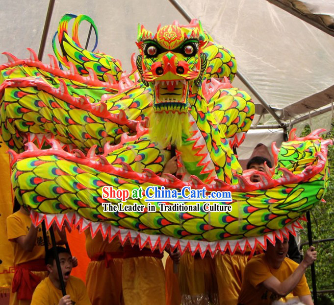 Standard International Dragon Dance Competition Fluorescent Costume for Nine to Ten Dancers