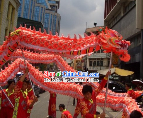 Supreme Chinese Customs Fluorescent Dragon Dancing Equipments for Nine to Ten Dancers