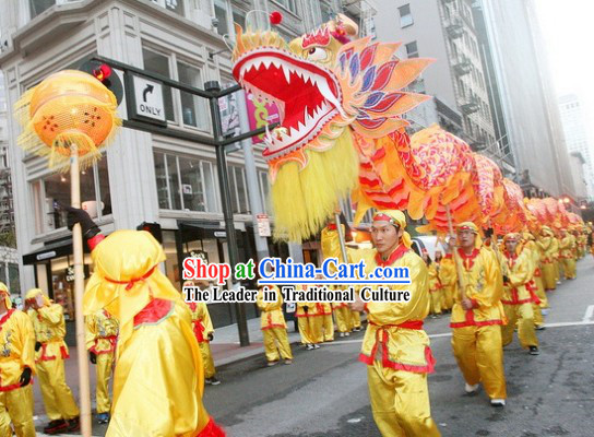 Happy Festival Celebration Beijing Dragon Dance Costumes Complete Set