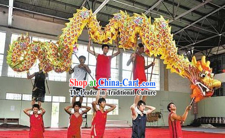 Chinese New Year Celebration and Competition Flower Cloud Dragon Dancing Costumes for Ten People