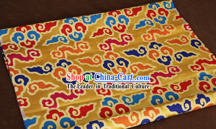 Yellow Traditional Chinese Tibetan Fabric