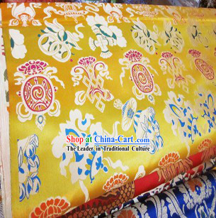 Traditional Chinese Tibetan Clothes Brocade Fabric