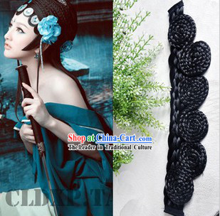Chinese Classical Green Snake Lady Hair Bang Wig