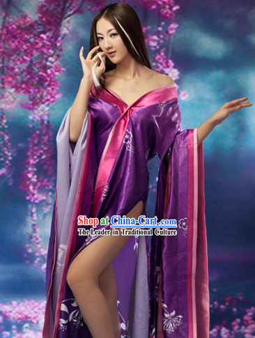 Ancient Chinese Film Hua Pi Xiao Wei Costumes Complete Set for Women