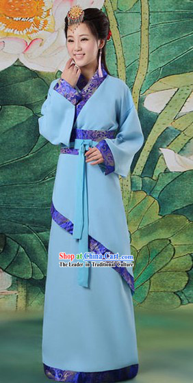 Traditional Chinese Han Dynasty Quju Clothing Complete Set