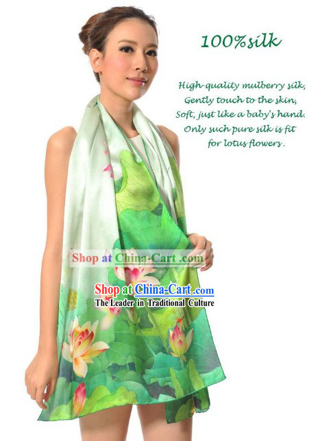 100% Silk Chinese Famous Brand Shanghai Story Scarf