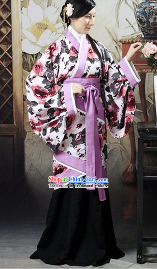 Ancient Chinese Floral Costumes Skirt for Women