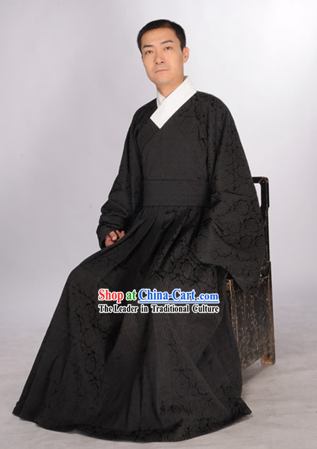 Black Traditional Hanfu Garment for Men