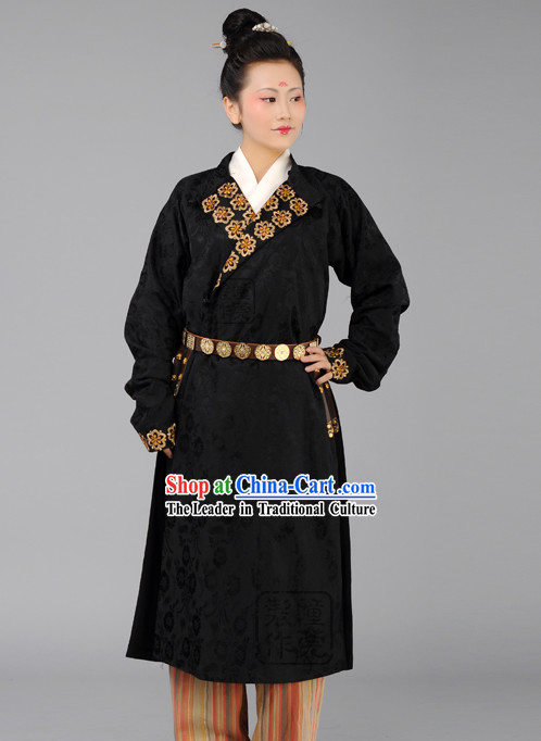 Ancient Tang Time Dark Round Robe for Women