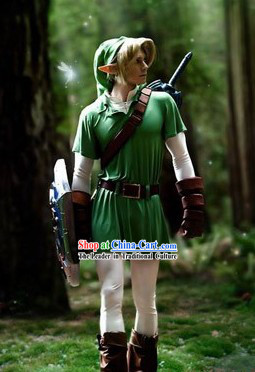 Legend Of Zelda Link Cosplay Costumes Complete Set