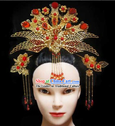 Traditional Chinese Wedding Headpieces for Brides